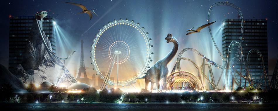 Réalité Virtuelle Parc d'attractions Samsung