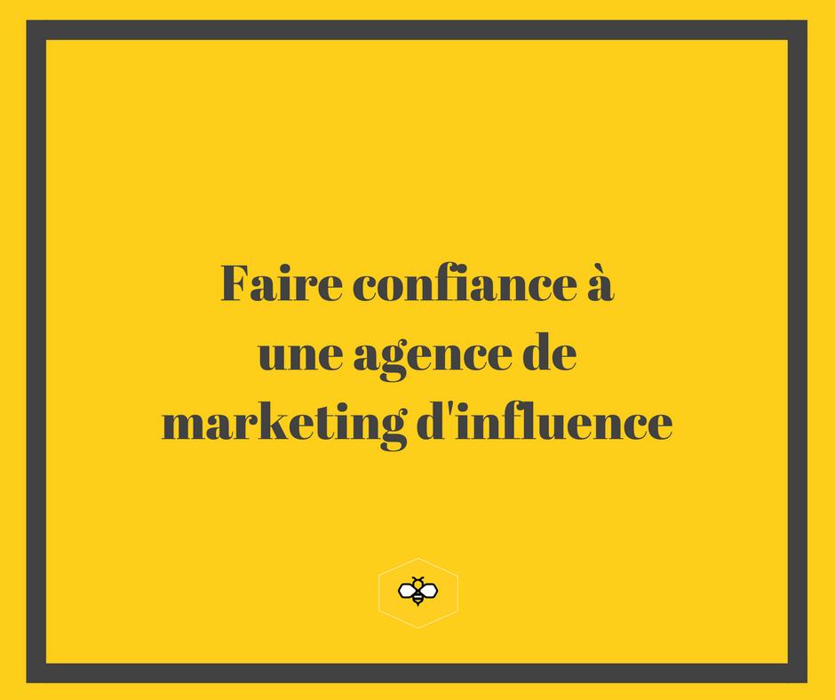 travailler avec une agence de marketing d'influence