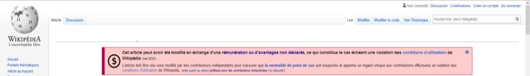 bandeau de vérification Wikipedia