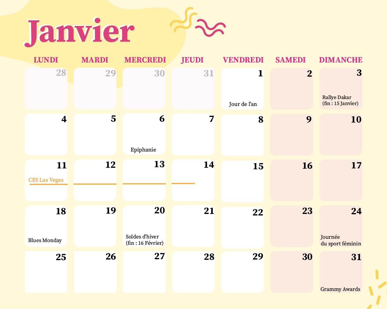 Calendrier Marronnier 2022 Marronnier 2021 : le calendrier des événements marketing   Influenzzz